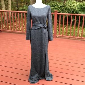 NWT! Vince Camuto SZ10, grey twistfront maxi dress